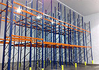 Push-back racking system